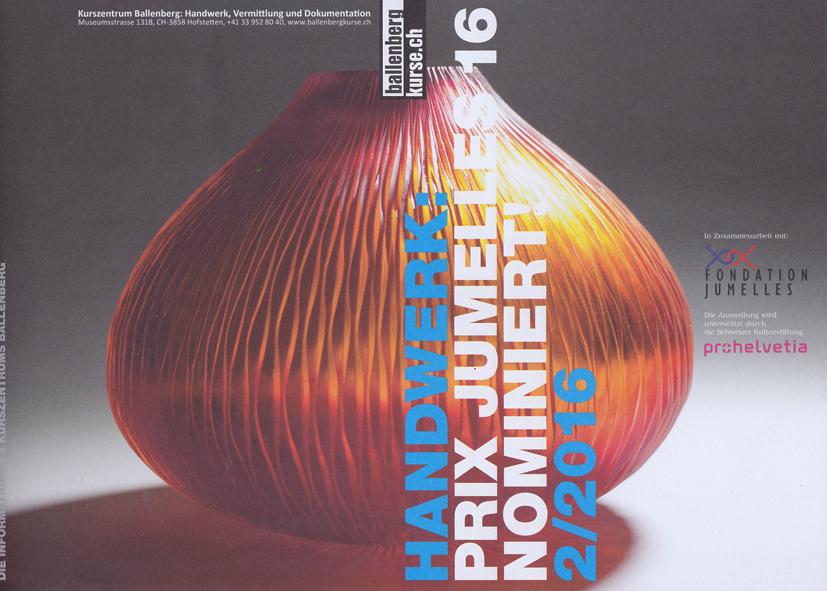 Handwerk 2016 - Prix Jumelies 16 - Nominiert - 2/2016